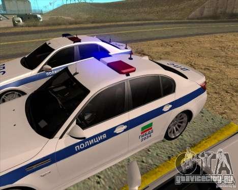BMW M5 E60 ДПС для GTA San Andreas вид справа