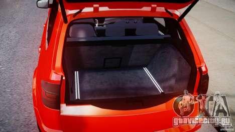 BMW X5M Chrome для GTA 4 вид сзади