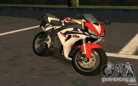 Honda Fireblade 1000RR для GTA San Andreas вид сзади
