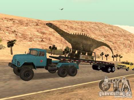 Прицеп Динозавр для GTA San Andreas вид сзади