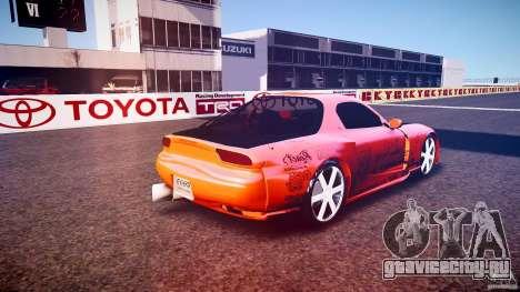 Mazda RX-7 ProStreet Style для GTA 4 вид сзади слева