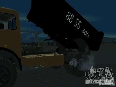 МАЗ 503а Самосвал для GTA San Andreas вид сзади слева