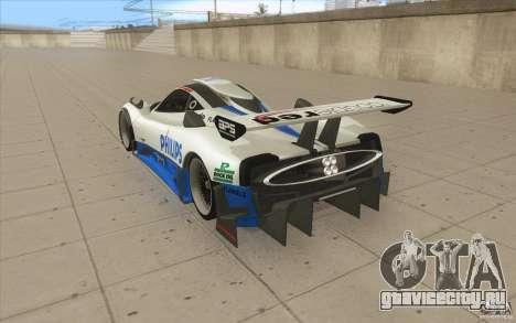 Pagani Zonda Racing Edit для GTA San Andreas вид сзади слева