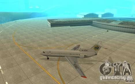 Як-42Д Львов (Украина) для GTA San Andreas вид сзади слева