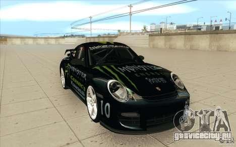 Porsche 997 Rally Edition для GTA San Andreas вид сзади