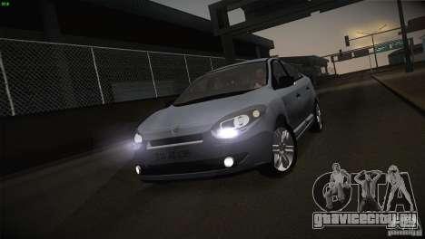 Renault Fluence для GTA San Andreas вид сбоку