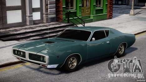 Dodge Charger RT 1971 v1.0 для GTA 4 вид сзади