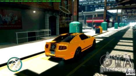 Shelby GT500 Super Snake 2011 для GTA 4 вид слева