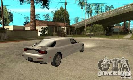 Mazda RX-7 Limousine для GTA San Andreas вид справа