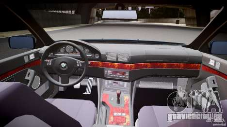 BMW 530I E39 e63 white wheels для GTA 4 вид сзади