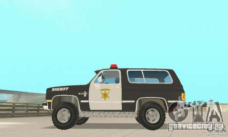 Chevrolet Blazer Sheriff Edition для GTA San Andreas вид сзади