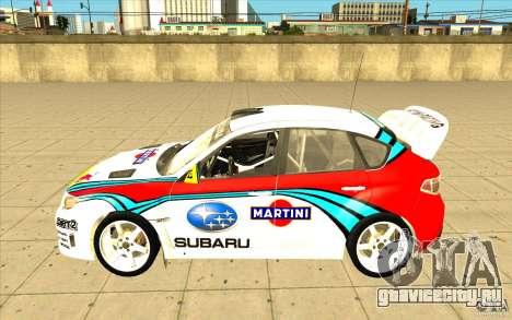 Subaru Impreza WRX STi с новыми винилами для GTA San Andreas двигатель