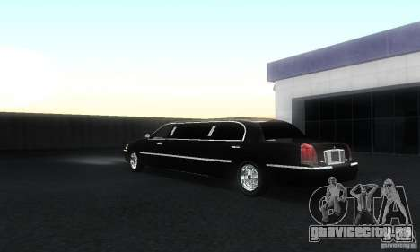 Lincoln Towncar limo 2003 для GTA San Andreas вид сзади слева