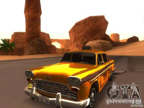 Checker Marathon Yellow CAB для GTA San Andreas