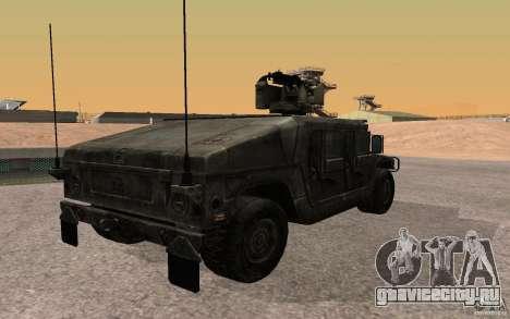 Hummer H1 from Battlefield 3 для GTA San Andreas вид слева