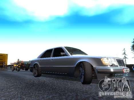 Mercedes-Benz E500 W124 для GTA San Andreas вид сзади слева