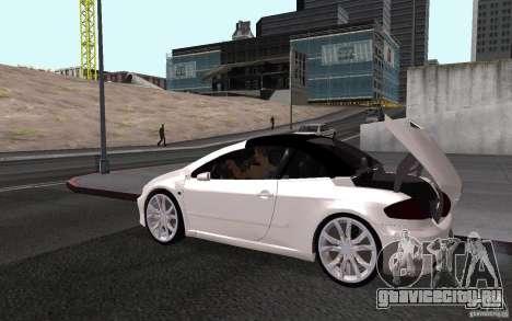 Peugeot 307CC BMS для GTA San Andreas вид справа