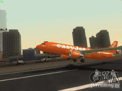 Airbus A320-214 EasyJet 200th Plane для GTA San Andreas вид изнутри