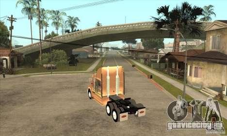 Peterbilt 387 скин 3 для GTA San Andreas вид справа