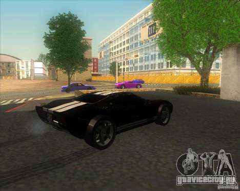 Ford GT stock для GTA San Andreas вид слева