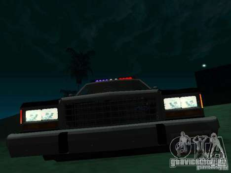 Ford Crown Victoria LTD 1992 SFPD для GTA San Andreas вид слева