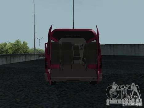 ГАЗ 2217 Соболь для GTA San Andreas вид сзади