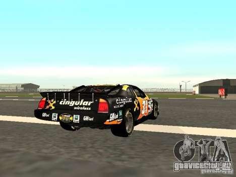 Chevrolet Monte Carlo Nascar CINGULAR Nr.31 для GTA San Andreas вид справа