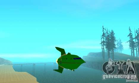 Planet Express для GTA San Andreas вид сзади