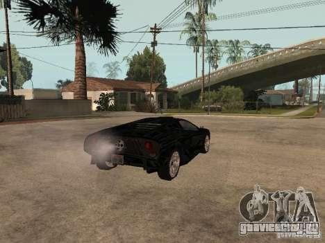 GTA4 Infernus для GTA San Andreas вид сзади слева