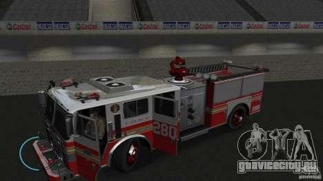 NEW Fire Truck для GTA 4 вид слева
