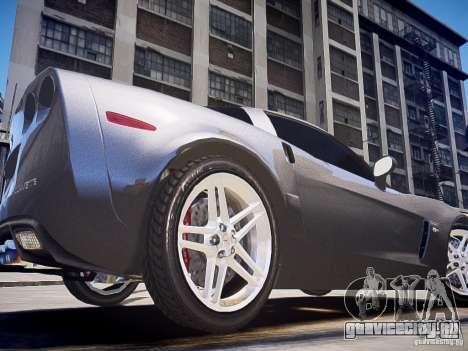 Chevrolet Corvette Z06 для GTA 4 вид сзади слева