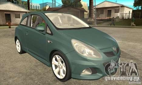 Vauxhall Corsa VXR для GTA San Andreas вид изнутри