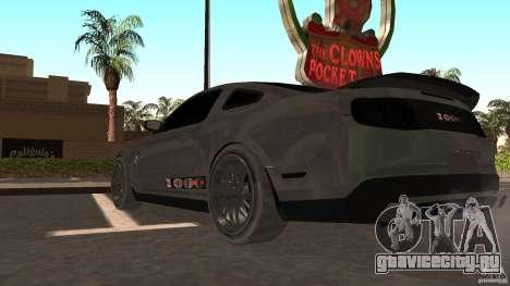 Shelby Mustang 1000 для GTA San Andreas вид сзади слева