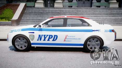 Carbon Motors E7 Concept Interceptor NYPD [ELS] для GTA 4 вид изнутри