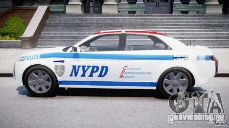 Carbon Motors E7 Concept Interceptor NYPD [ELS] для GTA 4 вид изнутри