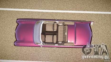 Cadillac Eldorado 1959 interior black для GTA 4 вид сзади