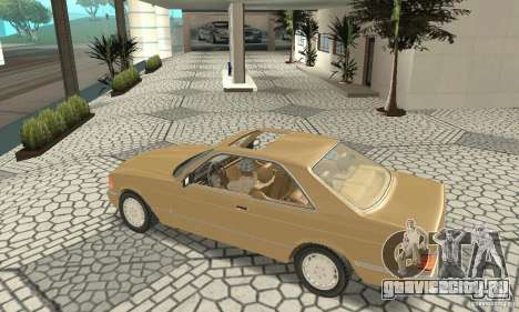 Mercedes-Benz W126 560SEC для GTA San Andreas вид сзади