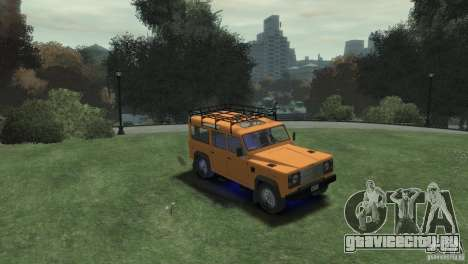 Land Rover Defender Station Wagon 110 для GTA 4 вид справа