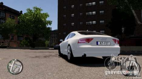 Audi A7 Sportback для GTA 4 вид справа
