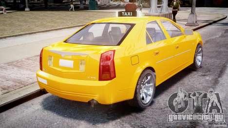 Cadillac CTS Taxi для GTA 4 вид сзади слева