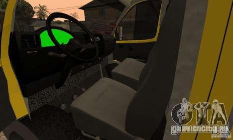 ГАЗель 32213 Новосибирская маршрутка для GTA San Andreas вид изнутри