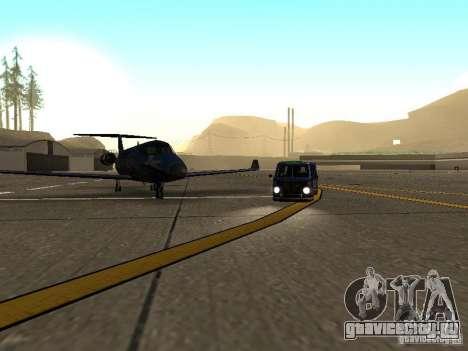 Mothership Shamal для GTA San Andreas вид сзади слева
