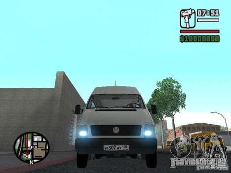 Volkswagen LT 35 Пассажирсикй для GTA San Andreas вид слева