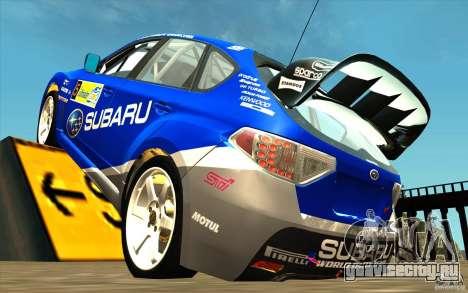 Новый винил к Subaru Impreza WRX STi для GTA San Andreas вид сзади слева