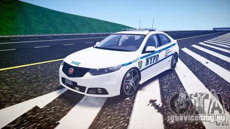 Honda Accord Type R NYPD (City Patrol 2322) ELS для GTA 4 вид сзади