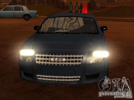 Audi TT 3.2 Quattro для GTA San Andreas вид сбоку