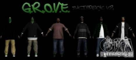 Новые скины Groove street family V2 для GTA San Andreas
