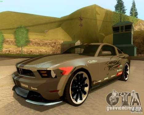 Ford Mustang Boss 302 2011 для GTA San Andreas вид сверху