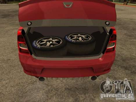 Dacia Logan Rally Dirt для GTA San Andreas вид сзади