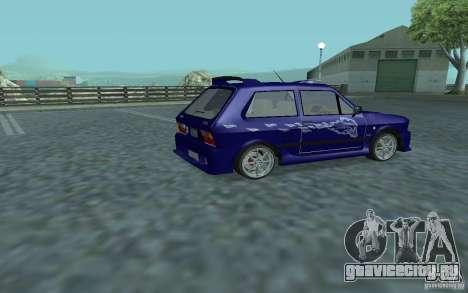 Yugo 45 Tuneable для GTA San Andreas вид сзади